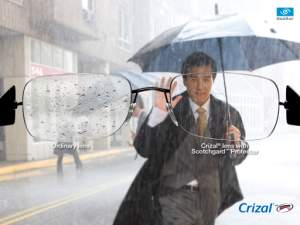 Crizal no-glare lenses reduce scratches, eliminate glare, repel dust, dirt, and smudges for the clearest vision possible